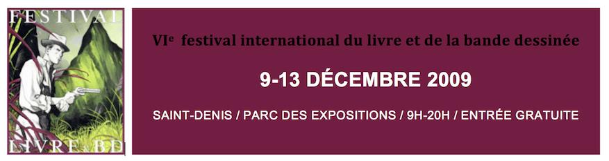 VI<sup>e</sup> Festival international du livre et de la bande dessinée de Saint-Denis 2009 - Visuel d'Emmanuel Lepage