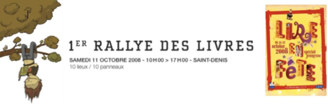 Lire en Fête 2008 - 1er Rallye des Livres 11 octobre 2008 - Dessin de Jace