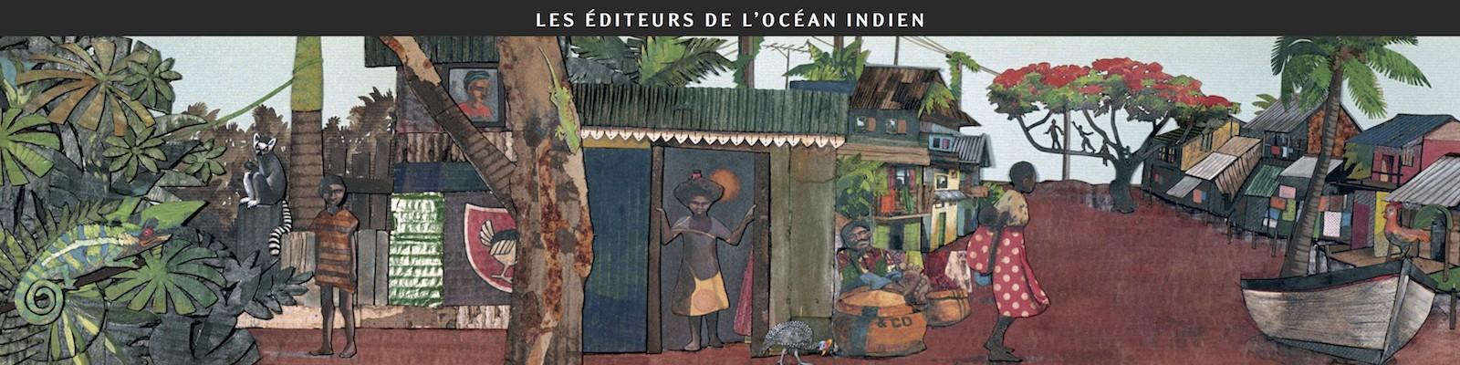 Les éditeurs de l'océan Indien à Étonnants voyageurs - Festival international du livre et du film 2011 - Dessin d'Aurélie Moynot