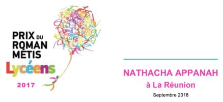 Rencontres avec Nathacha Appanah, lauréate du Prix du Roman Métis des Lycéens 2017