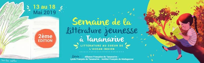 Visuel de la Semaine de la littérature jeunesse à Tananarive 2019