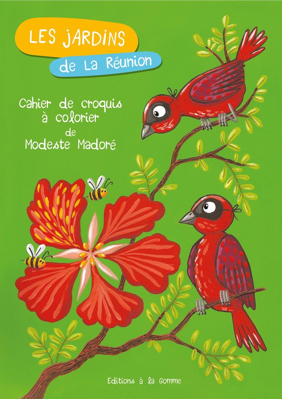 Les jardins de La Réunion – Cahier croquis à colorier