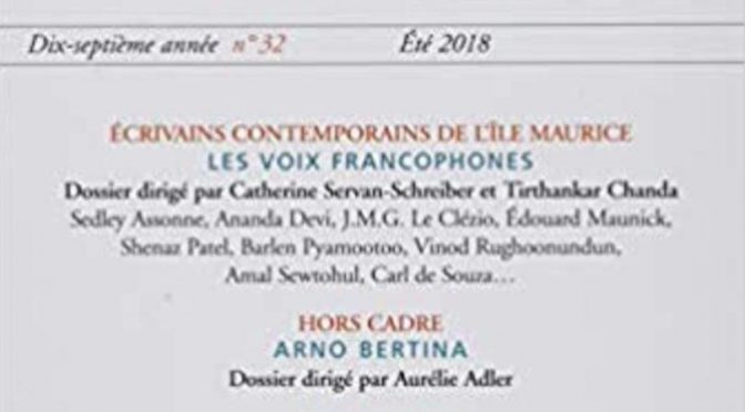 Siècle 21 – Littérature & société – N° 32 – Écrivains contemporains de l'Île Maurice