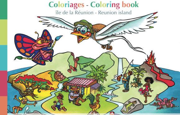 Coloriages – Île de La Réunion / Coloring book – Reunion island