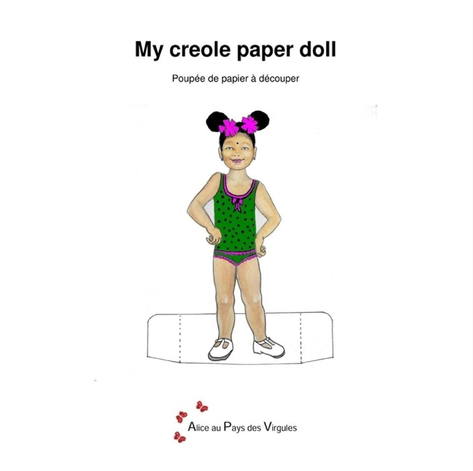 My creole paper doll – Poupée de papier à découper – Onésia-des-bas